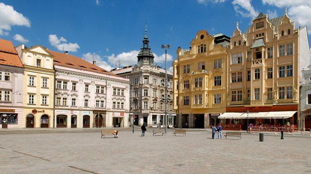 B2BX1B Market square of Pilsen, Plzen, West Bohemia, Czech Republic, Europe